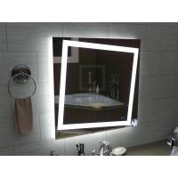 Квадратное LEd зеркало с подсветкой для ванной Торино 700x700 мм