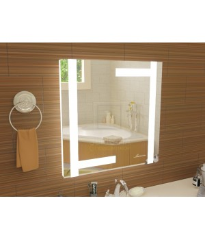 Квадратное зеркало в ванную с подсветкой Витербо размером 1200x1200 мм