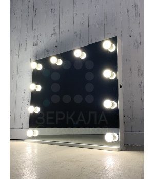 Гримерное зеркало с подсветкой для макияжа с лампочками 60х80