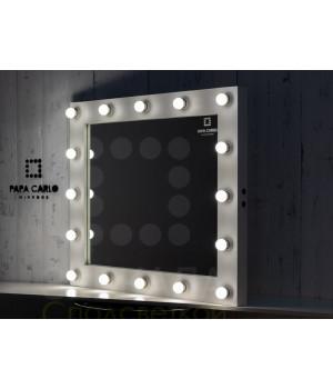 Гримерное зеркало белое с подсветкой 80х100 см 16 ламп