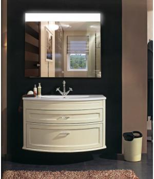 Зеркало в ванную с LED подсветкой Аврора размер 100 на 100 см