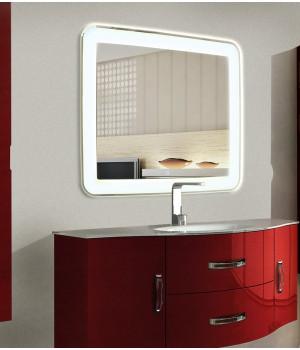 LED зеркало в ванную комнату с подсветкой Мила размером 80 на 80 см